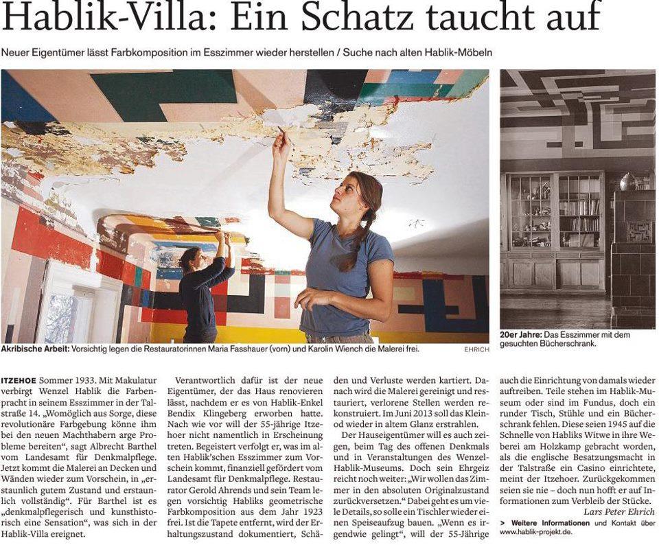 Artikel in der Norddeutschen Rundschau vom 16.11.12